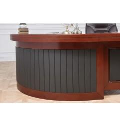 scrivania presidenziale angolare particolare rivestimento