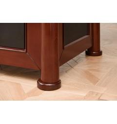 piede scrivania classica impiallacciata legno