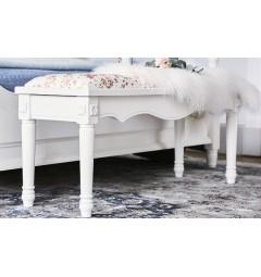 panca fondo letto legno bianco stile provenzale camera da letto