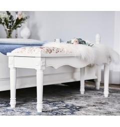 Ottomano Panca Pouf Sgabello imbottita colore bianco per camera da letto casa toeletta soggiorno Princess 858