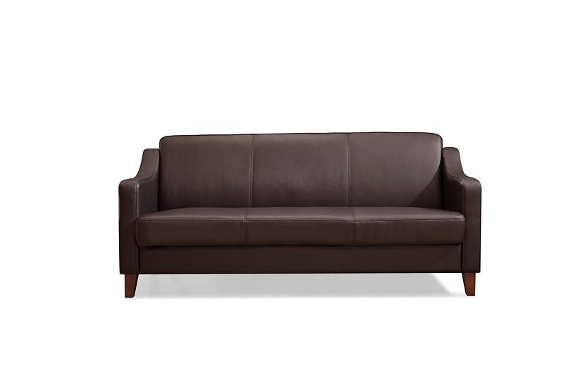 divani attesa ufficio in pelle marrone