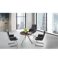 Tavolo da riunioni rotondo per ufficio moderno PLATINUM 90D da 90 cm