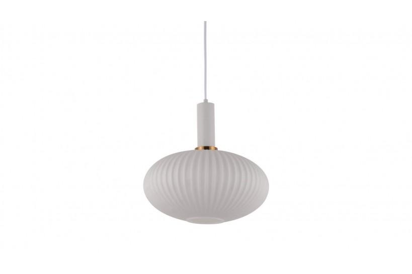Lampada a sospensione moderno di design a sfera in vetro colore bianco FLORI
