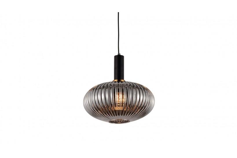Lampada a sospensione moderno di design a sfera in vetro colore grigio fumo FLORI