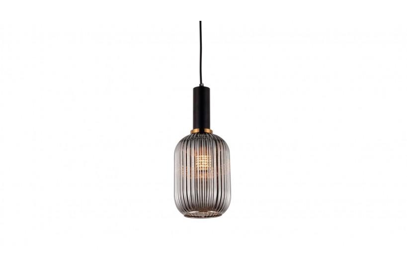 Lampada a sospensione moderno di design in vetro colore grigio fumo RICO