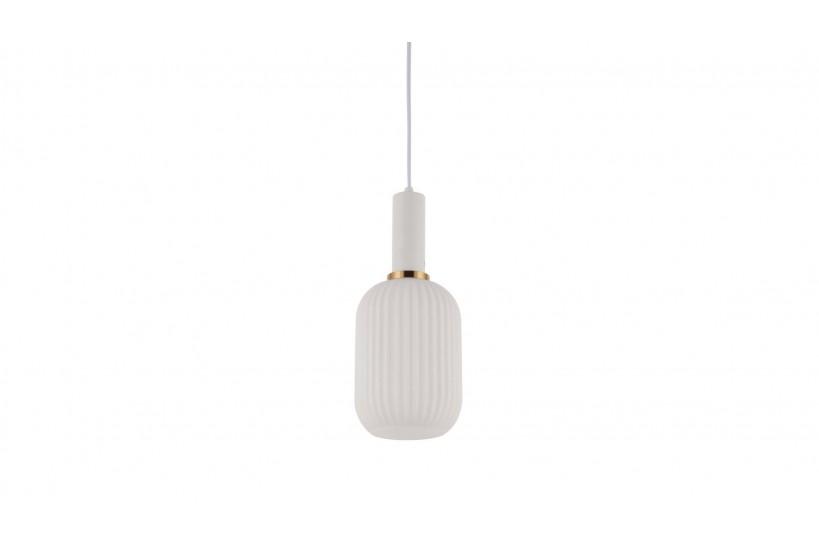 Lampada a sospensione moderno di design in vetro colore bianco RICO