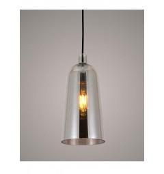 Lampada a sospensione moderno di design in vetro colore grigio fumo NORDICA