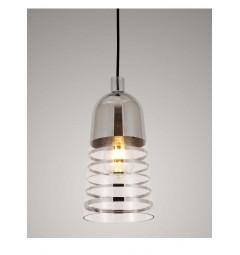 Lampada a sospensione moderno di design in vetro colore cromato ETRICA