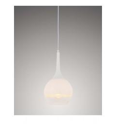 Lampada a sospensione moderno di design in vetro colore bianco e trasparente FRUDO