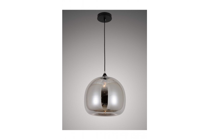Lampada a sospensione moderno di design scandinavo in vetro colore grigio fumo CESIO