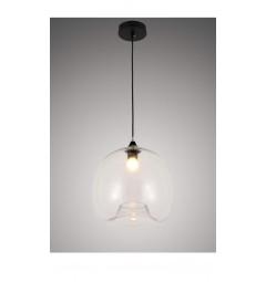 Lampada a sospensione moderno di design scandinavo in vetro trasparente CESIO
