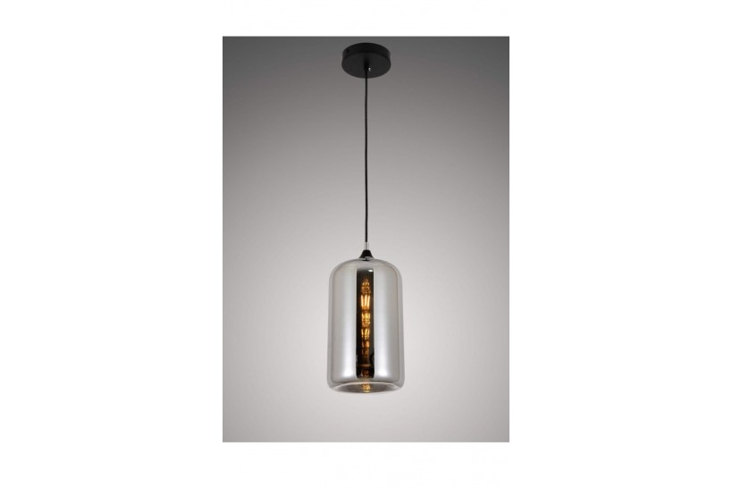 Lampada a sospensione moderno di design scandinavo in vetro colore grigio fumo MONTI