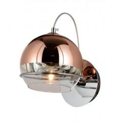 Applique lampada da parete moderno di design con sfera in vetro colore oro rosa VERONI W1