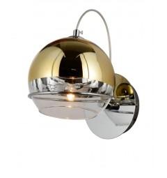 Applique lampada da parete moderno di design con sfera in vetro colore oro VERONI W1