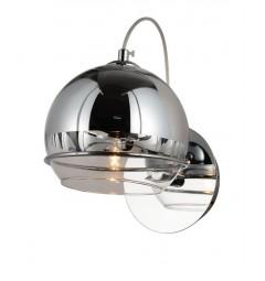 Applique lampada da parete moderno di design con sfera in vetro colore Cromo VERONI W1
