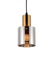 Lampada a sospensione di design moderno in vetro colore grigio fumo BOLENA
