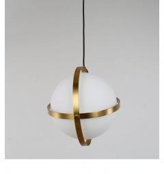 lampada a sospensione moderno di design con sfera in vetro colore bianco SIGNIA D20