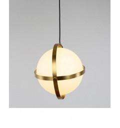 Lampada a sospensione moderno di design con sfera in vetro colore bianco SIGNIA D30