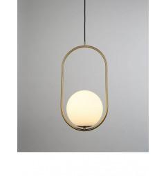 lampada a sospensione moderno di design con sfera in vetro colore bianco PANARI D20