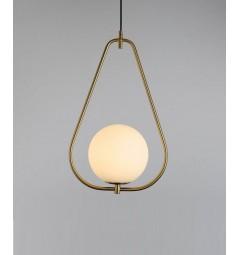 lampada a sospensione moderno di design con sfera in vetro colore bianco FORNERI D20