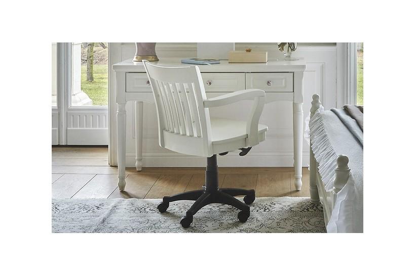 sedia poltrona girevole in colore bianco per soggiorno salotto camera da letto cameretta ufficio studio princess 818