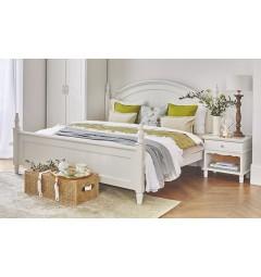 Letto stile provenzale bianco 180 x 200 con struttura in legno