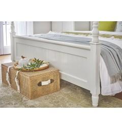 piedi letto stile provenzale in legno bianco
