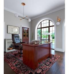 scrivania classica 120 cm con cassetti