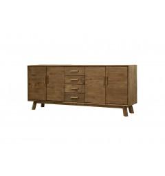 madia soggiorno in legno naturale vintage