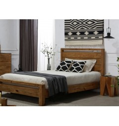 camera da letto legno vintage design