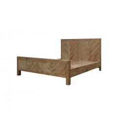 letto matrimoniale moderno in legno