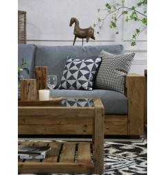divano legno rustico 3 posti