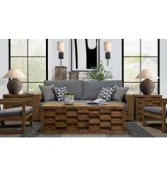 soggiorno moderno legno massello