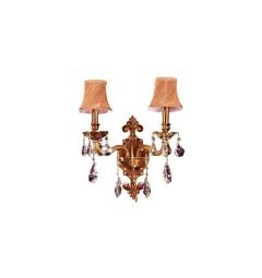 applique da parete classiche dorate con cristalli