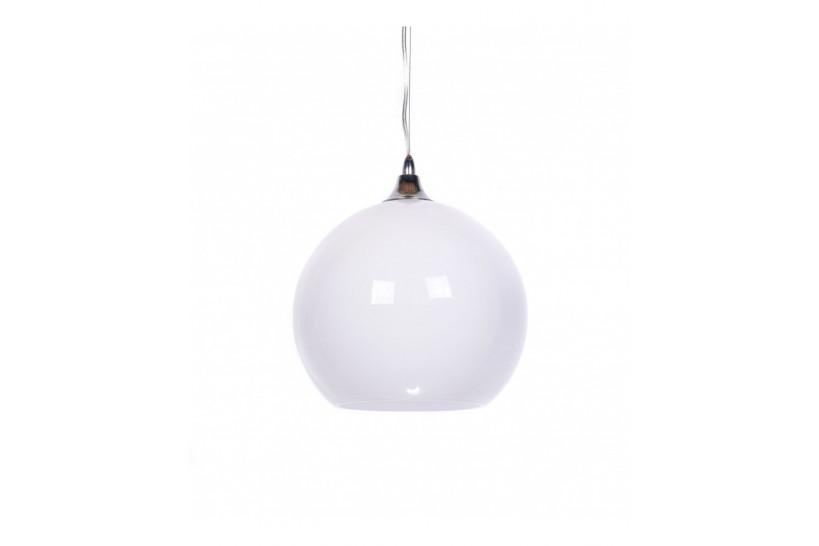 Lampada design a sospensione sfera in vetro temperato Molton colore Bianco
