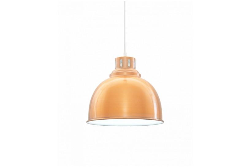 Lampadario in Stile Industriale vintage a sospensione Fabbiano in metallo colore ottone