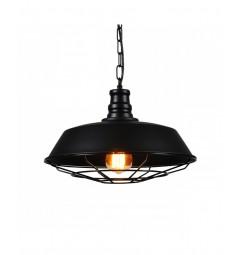 Lampadario vintage in gabbia a sospensione in Stile Industriale colore nero in metallo Arigio D35