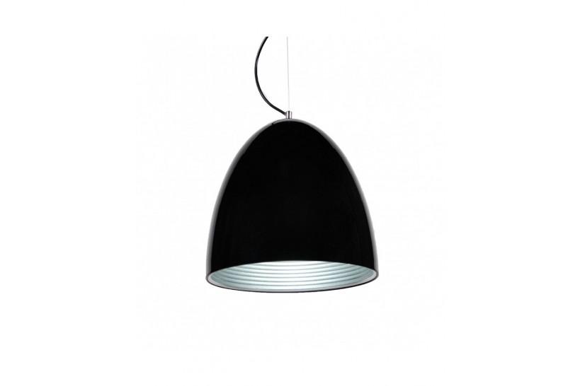 Lampada design a sospensione in metallo Vicci colore Nero Centro Argento