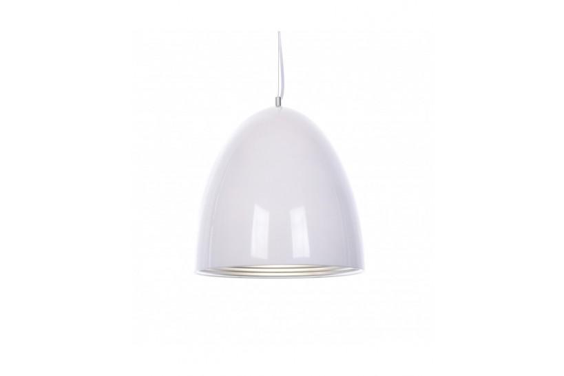 Lampada design a sospensione in metallo Vicci colore Bianco Centro Argento