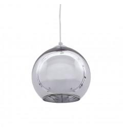 Lampadario a sospensione moderno di design sfera in vetro colore cromo LOBOS D20