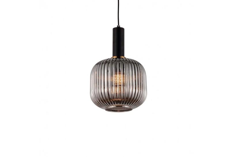 Lampada a sospensione moderno di design a sfera in vetro colore grigio fumo GATO
