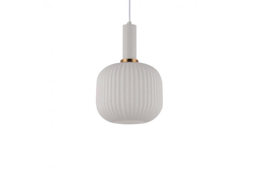 Lampada a sospensione moderno di design a sfera in vetro colore bianco GATO