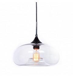Lampada moderno di design a sospensione in vetro soffiato colore Trasparente