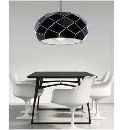 Lampadario moderno di design, paralume in metallo diametro 35 cm colore nero ROKKA