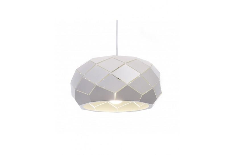 Lampadario moderno di design, paralume in metallo diametro 35 cm colore bianco ROKKA
