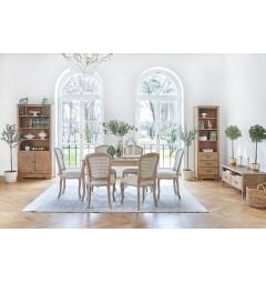 sedia legno e tessuto a quadri