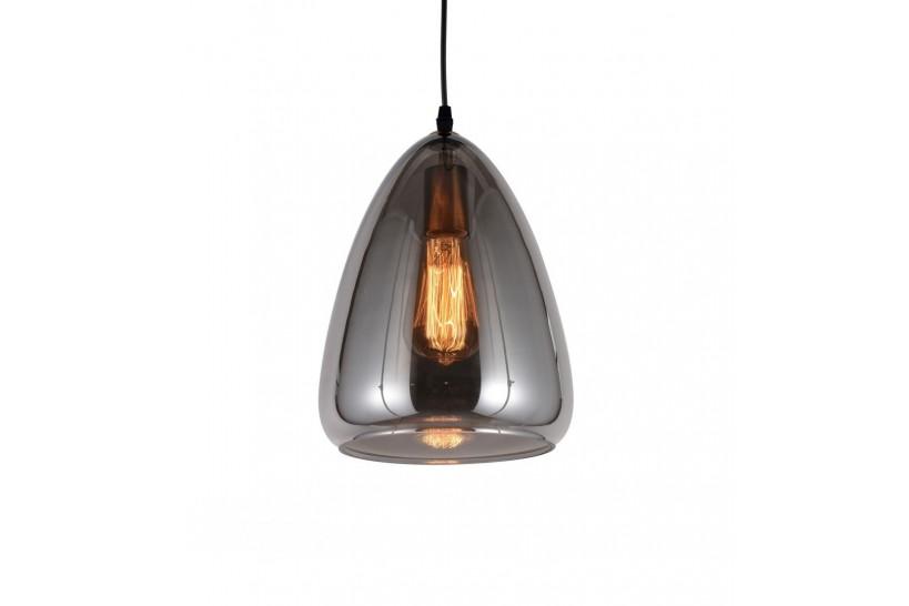 Lampada a sospensione moderno di design in vetro colore grigio fumo BRAGA
