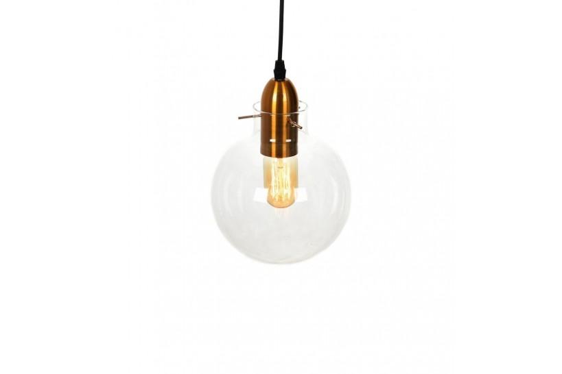 Lampada a sospensione moderno di design a sfera in vetro trasparente CALVI
