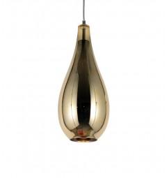 Lampada a sospensione moderno di design forma di goccia in vetro colore oro LAURIS
