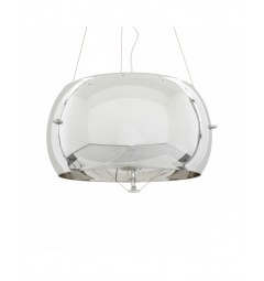 Lampadario moderno a sospensione in vetro Stilio D40 colore Cromo